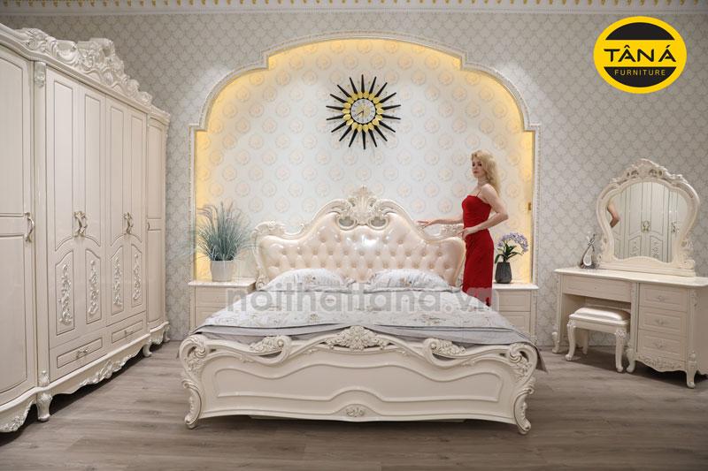 Combo giường tủ phòng ngủ tân cổ điển giá rẻ