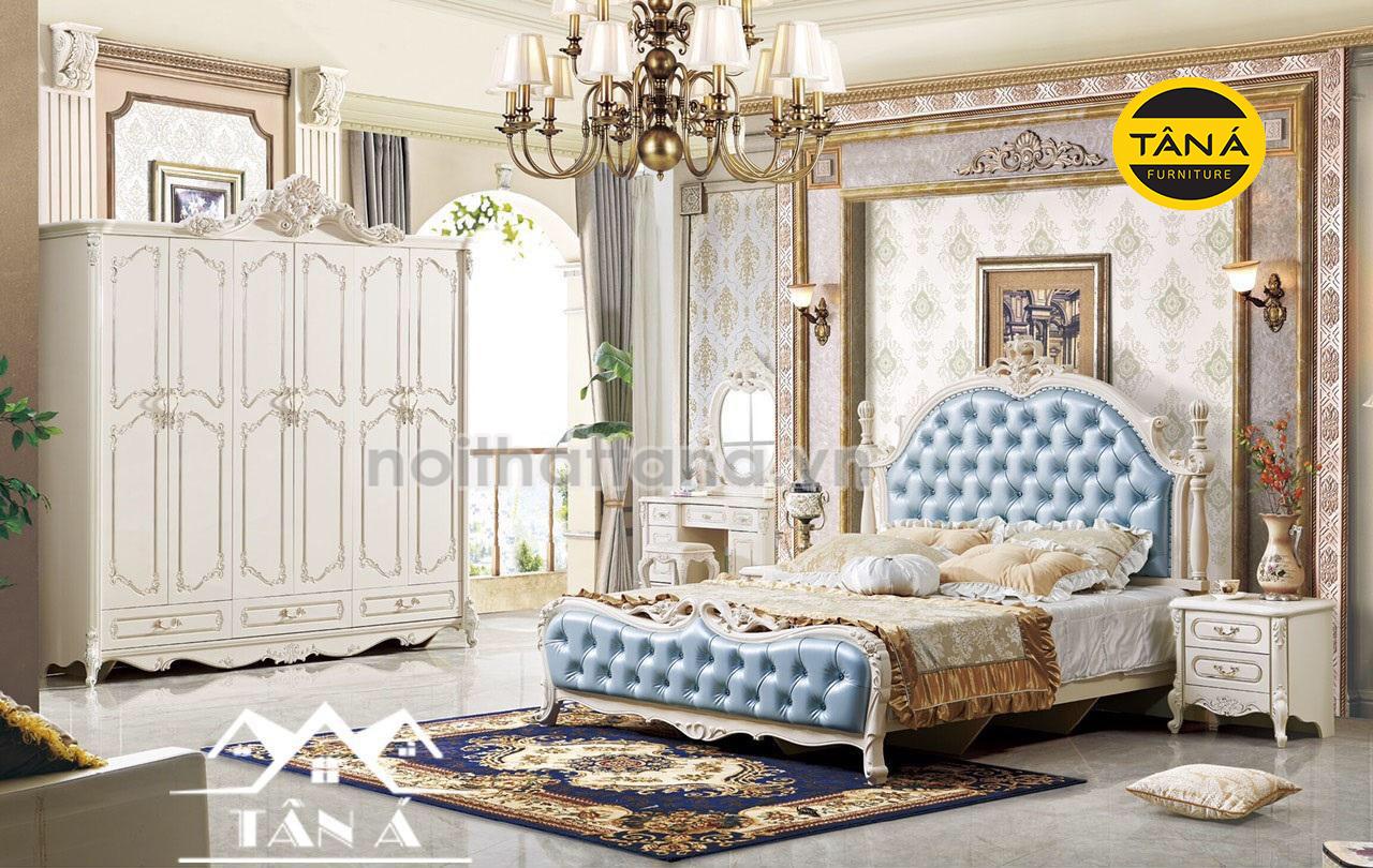 bộ giường tủ phòng ngủ tân cổ điển giá rẻ