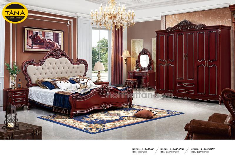 bộ giường ngủ tân cổ điển cao cấp